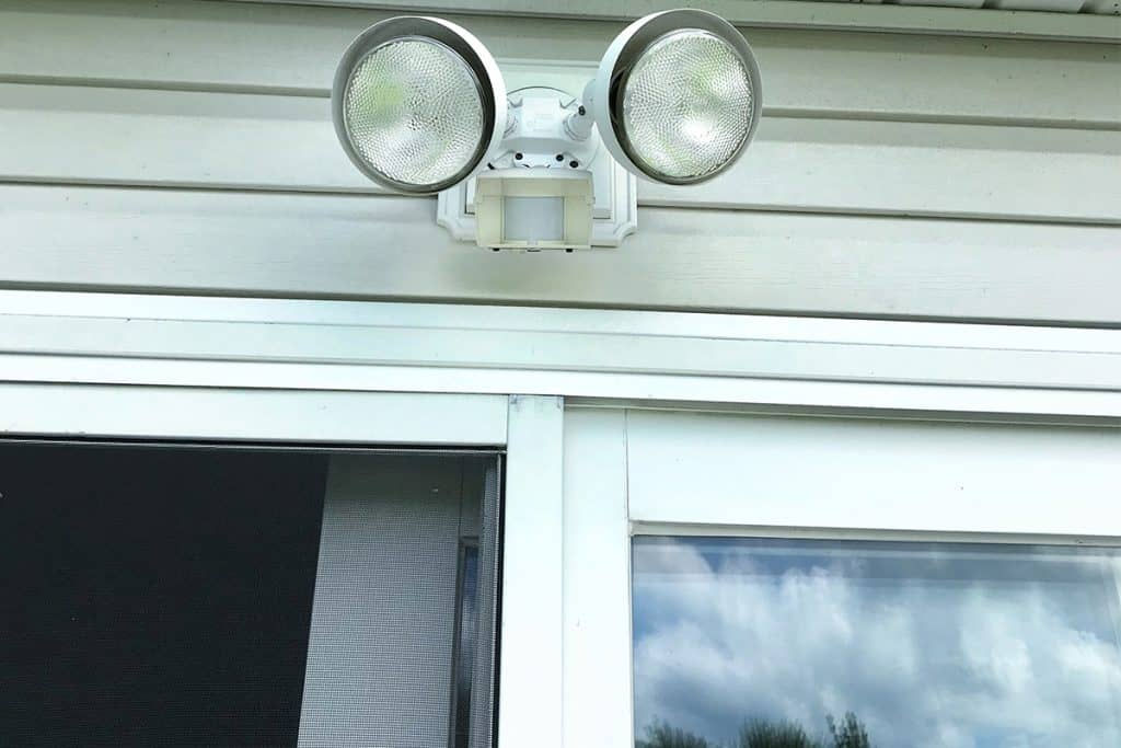 Motion Sensor Light Outside of House