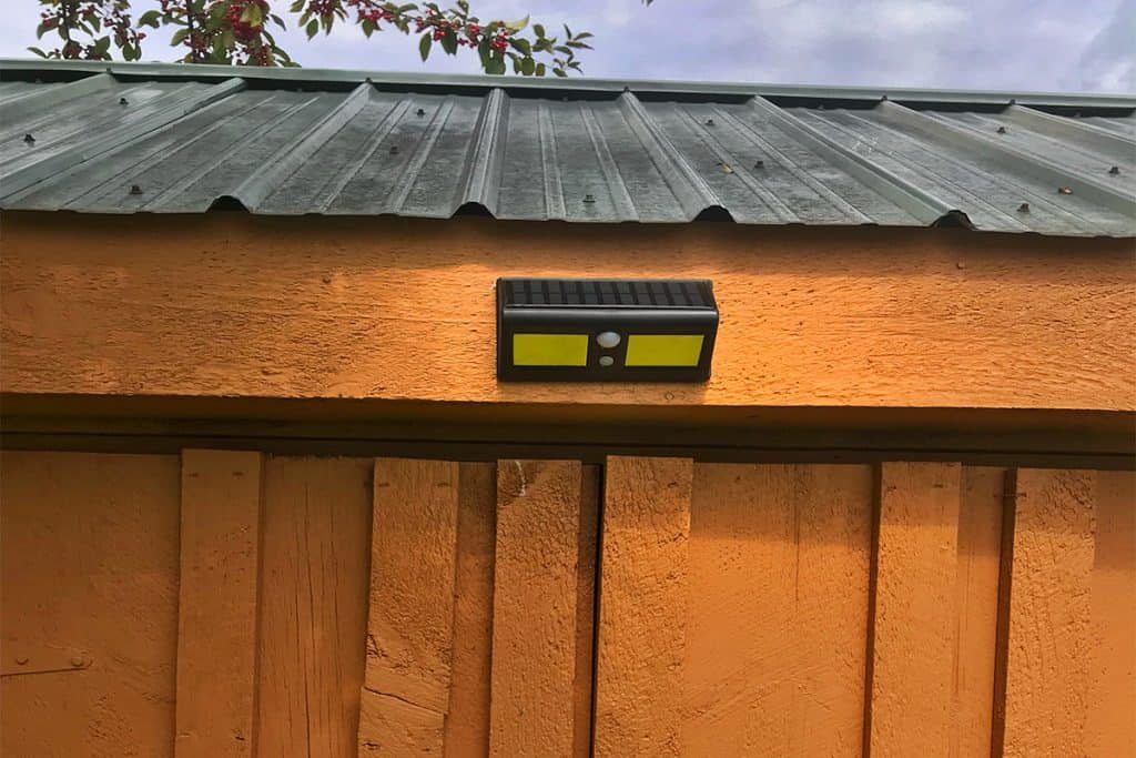Motion Sensor Light on Shed