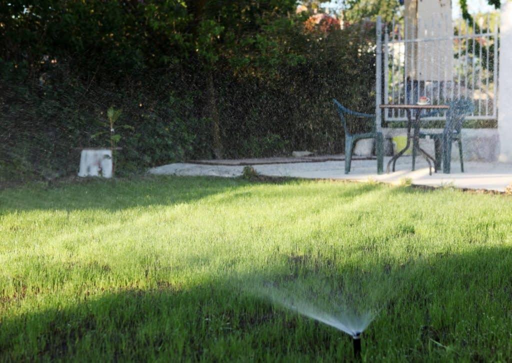 Water Sprinkler Used in Yard